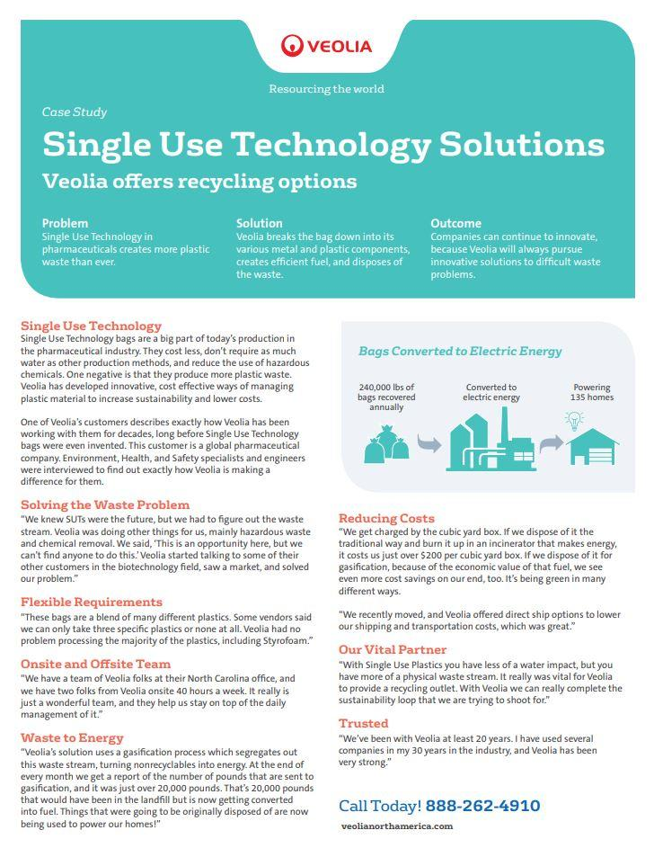 Single use technology solutions
